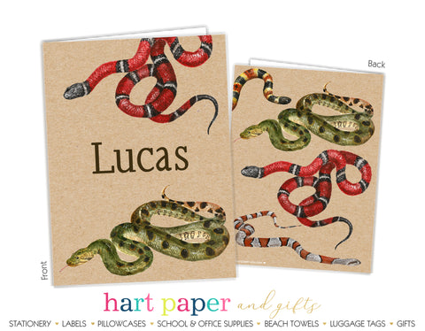 Snakes Personalized 2-Pocket Folder School & Office Supplies - Everything Nice