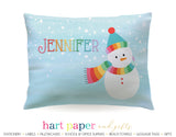 Snowman Personalized Pillowcase Pillowcases - Everything Nice
