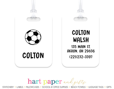 Soccer Ball Luggage Bag Tag School & Office Supplies - Everything Nice