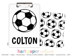 Soccer Ball Personalized Clipboard