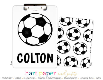 Soccer Ball Personalized Clipboard School & Office Supplies - Everything Nice