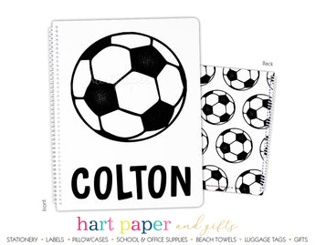 Soccer Ball Personalized Notebook or Sketchbook School & Office Supplies - Everything Nice