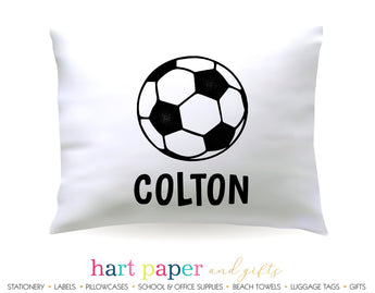 Soccer Ball Personalized Pillowcase Pillowcases - Everything Nice