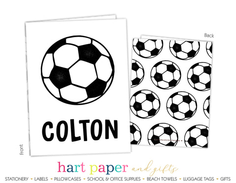 Soccer Ball Personalized 2-Pocket Folder School & Office Supplies - Everything Nice