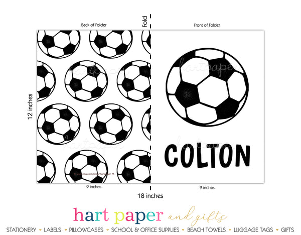 Pink Soccer Ball 2-Pocket Folder