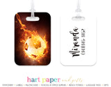 Soccer Ball on Fire Luggage Bag Tag School & Office Supplies - Everything Nice