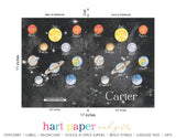 Planets Space Personalized Notebook or Sketchbook School & Office Supplies - Everything Nice