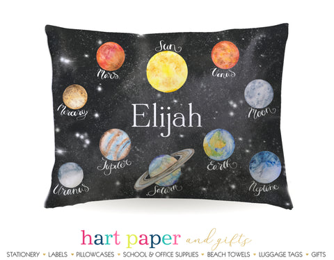 Planets Space Personalized Pillowcase Pillowcases - Everything Nice