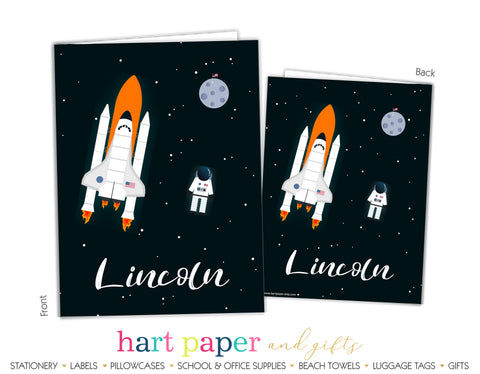 Rocket Ship Personalized 2-Pocket Folder School & Office Supplies - Everything Nice