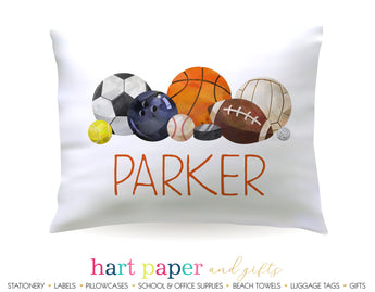 Sports Balls Personalized Pillowcase Pillowcases - Everything Nice