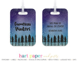 Galaxy Stars Trees Luggage Bag Tag School & Office Supplies - Everything Nice