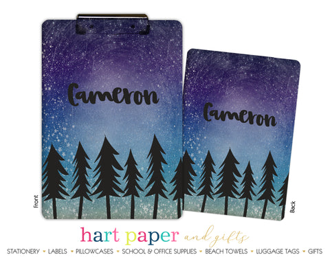 Stars Trees Personalized Clipboard School & Office Supplies - Everything Nice