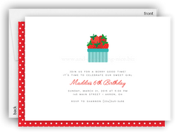 Strawberry Berry II Party Invitation • Baby Shower Birthday Picnic • Any Colors