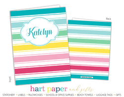 Rainbow Stripes b 2-Pocket Folder