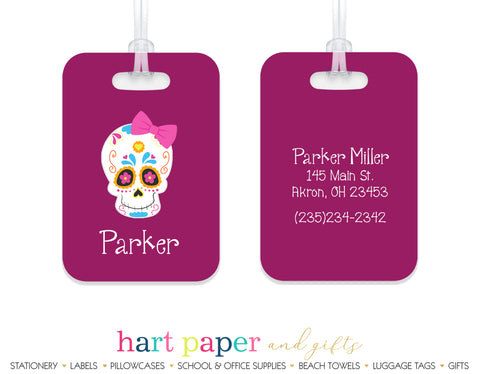 Sugar Skull Luggage Bag Tag School & Office Supplies - Everything Nice