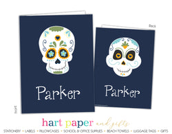 Sugar Skull Personalized 2-Pocket Folder