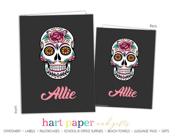 Sugar Skull Personalized 2-Pocket Folder School & Office Supplies - Everything Nice