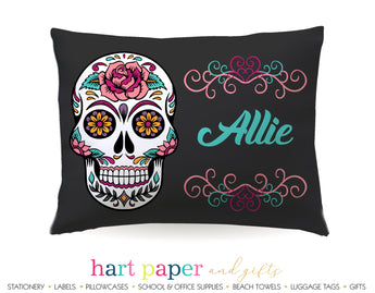 Sugar Skull Personalized Pillowcase Pillowcases - Everything Nice