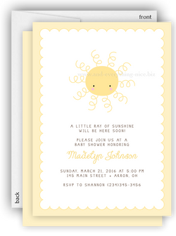 Sunshine Party Invitation • Baby Shower Birthday • Any Colors