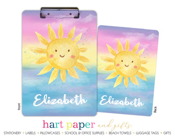 Sunshine Personalized Clipboard School & Office Supplies - Everything Nice