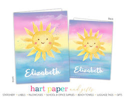 Sunshine Sun Personalized 2-Pocket Folder