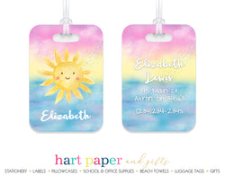 Sunshine Sun Rainbow Luggage Bag Tag