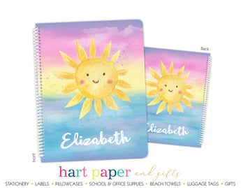 Sunshine Personalized Notebook or Sketchbook