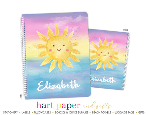 Sunshine Personalized Notebook or Sketchbook School & Office Supplies - Everything Nice