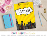 Superhero Personalized Clipboard School & Office Supplies - Everything Nice