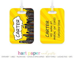 Superhero Luggage Bag Tag