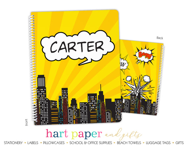 Superhero Personalized Notebook or Sketchbook School & Office Supplies - Everything Nice