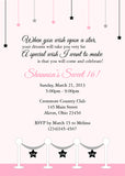 Stars & Pink Carpet Birthday Party Invitation • Any Colors Kids Birthday Invitations - Everything Nice