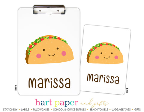 Taco Fiesta Personalized Clipboard School & Office Supplies - Everything Nice