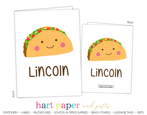 Taco Fiesta Personalized 2-Pocket Folder School & Office Supplies - Everything Nice