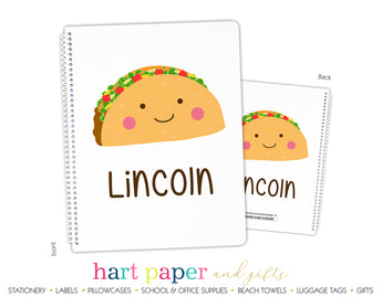 Taco Personalized Notebook or Sketchbook School & Office Supplies - Everything Nice