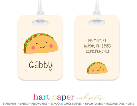 Taco Luggage Bag Tag School & Office Supplies - Everything Nice