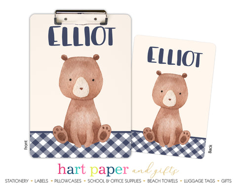 Teddy Bear Personalized Clipboard School & Office Supplies - Everything Nice