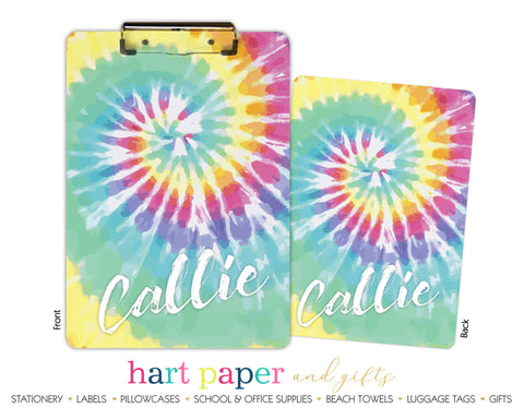 Tie Dye Personalized Clipboard School & Office Supplies - Everything Nice