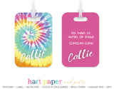 Tie Dye Rainbow Luggage Bag Tag School & Office Supplies - Everything Nice