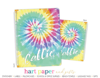 Tie Dye Rainbow Personalized Notebook or Sketchbook School & Office Supplies - Everything Nice