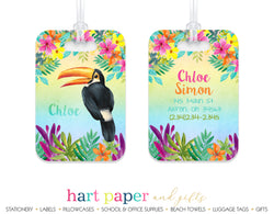 Toucan tropical Rainbow Luggage Bag Tag