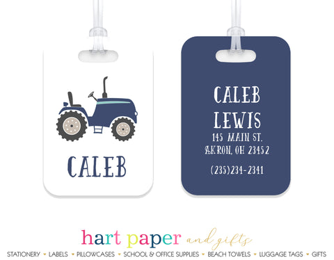Tractor Luggage Bag Tag School & Office Supplies - Everything Nice