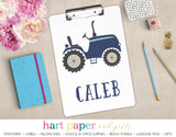 Tractor Personalized Clipboard