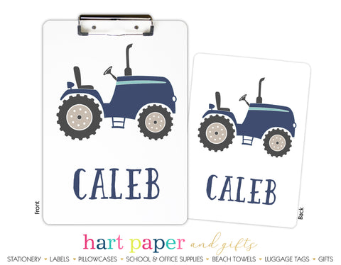 Tractor Personalized Clipboard School & Office Supplies - Everything Nice