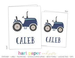 Tractor Personalized 2-Pocket Folder