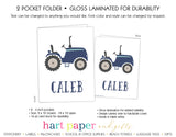 Tractor Personalized 2-Pocket Folder School & Office Supplies - Everything Nice