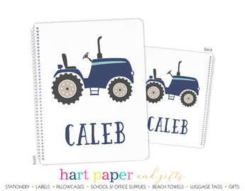 Tractor Personalized Notebook or Sketchbook