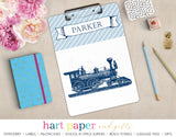 Train Personalized Clipboard School & Office Supplies - Everything Nice