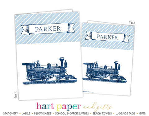 Train Personalized 2-Pocket Folder School & Office Supplies - Everything Nice