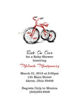 Tricycle Bike Party Invitation • Baby Shower Birthday • Any Colors